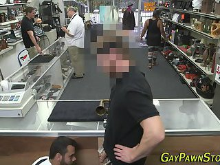 Voyeur,Blowjob,oral,bear,hidden cam,voyeurs,money,gay Real pawnshop owner bj