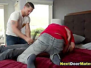 Anal,Rimming,Threesome,Blowjob,Bareback,jocks,ass licking,ass fucking,straight,brother,step brother,family taboo,brother and brother,gay Step brother caught spying then fucked bareback in threesome