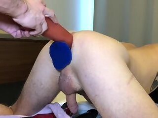 Anal,Amateur,Dildo,Fisting,Object Insertion,double penetration,black on white,gay 11 days of FFun with Oddtwink22 - Day 4 - Session One Pt 2