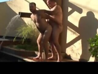 Amateur,Fat,daddy,bear,outdoor,gay Daddy,gay bear,gay daddy bear,gay pool,gay daddy sex,gay moustached daddy and bear fip flop sex by the pool