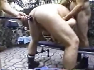 Amateur,Bareback,bear,outdoor,gay Daddy,gay Daddy Bears on a Bench