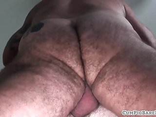 Anal,Bears,Mature,Tattoo,Bareback,gay Chubby polar bear doggystyles hairy cub