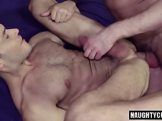 Anal,gay,hardcore,big dick,latex,studs, couch Big dick jock flip flop with cumshot