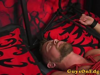 Bondage,Fetish,Handjob,gay,bdsm,muscled Edged stud teased and dominated by hunks