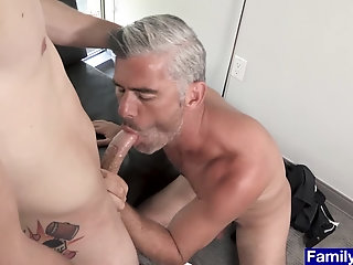 Anal,Big Cock,First Time,Hunks,Mature,Blowjob,Bareback,studs,daddy, old vs young,gay,Bill Farnsworth Nervous groom gets a rough bareback pounding by stepdad