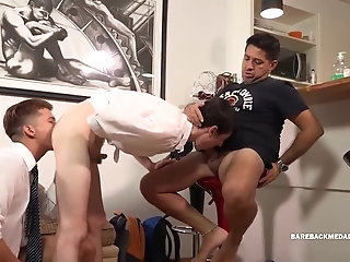 Anal,Amateur,Homemade,Blowjob,daddy,gay Daddy and Boys bareback daisy and chain