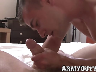Tattoo,Uniform,Blowjob,Bareback,gay,big dick,jock,military,athletic,abs,army,soldier,ArmyDuty,troop Young soldiers Princeton Price and Zack Matthews bareback