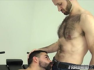 Anal,Cumshot,Bears,Mature,Blowjob,Bareback,hairy,gay Handsome wolf cumcovered and drilled raw