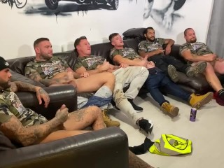 group-sex-party;circlejerk;circle-jerk;wank-party;andy-lee;andyleexxx,Muscle;Big Dick;Group;Gay;College;Hunks;Straight Guys;Uncut;Tattooed Men Straight lads circle jerk wank party. Drinking, wanking & watching porn. Real lads