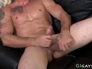 Amateur,Interracial,Party,gay,HD Ripped soldier stroking his cock