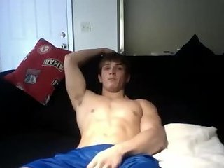 Amateur,Masturbation,Solo,college,jocks,gay Young jock thinks he's getting fat but is clearly wrong