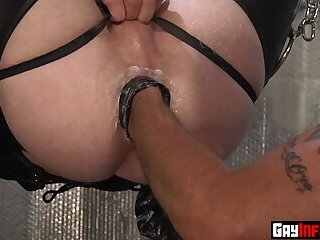 Anal,Big Cock,Fetish,Fisting,Hunks,Tattoo,studs,muscle,gay,HD Horny redhead fistfucked hardcore hanging in a sling